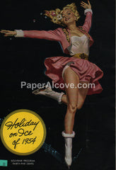 Holiday on Ice of 1954 9th Edition vintage souvenir program ice skating Ruskin Russ Williams good girl pin up art