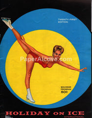 Holiday on Ice International 1967 21st Edition vintage souvenir program ice skating good girl pin up art