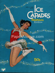 Ice Capades 1959 19th Edition vintage souvenir program ice skating Joe De Mers good girl pin up art Disney