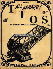 Toy Train Operating Society T.T.O.S. News Bulletin May 1970 vintage magazine