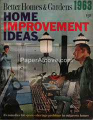 Better Homes & Gardens Home Improvement Ideas 1963 vintage magazine