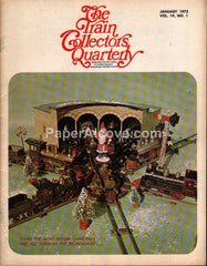 Train Collectors Quarterly January 1973 original vintage tinplate railroad magazine Christmas Santa Claus cover
