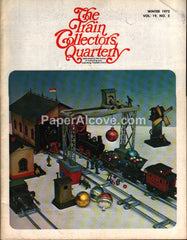 Train Collectors Quarterly Winter 1973 original vintage tinplate railroad magazine Christmas