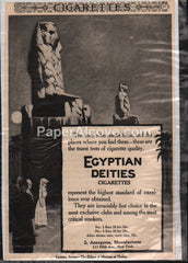 Egyptian Deities Cigarettes 1906 print ad S. Anargyros New York