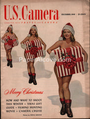 U.S. Camera magazine nude woman santa hat December 1949