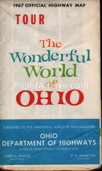 Ohio Official Highway Map and Economic Digest 1967 vintage old