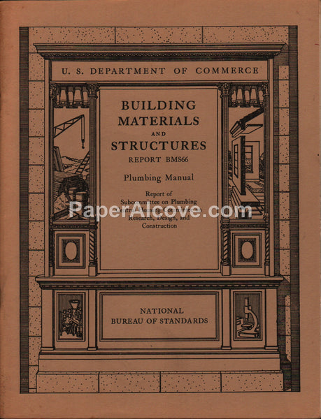 Building Materials & Structures Report BMS66 Plumbing National Bureau of Standards 1940 vintage original
