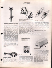 Attwood boat accessories 1977 vintage original brochure