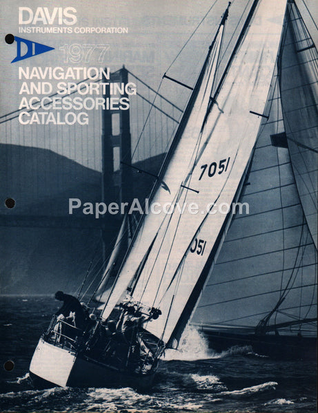 Davis Instruments boat navigation tools 1977 vintage original brochure catalog