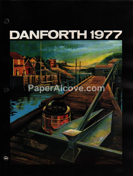 Danforth Marine Instruments Anchors 1977 vintage original brochure catalog