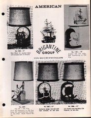 American Lamp Brigantine Group nautical lights 1977 vintage original brochure catalog