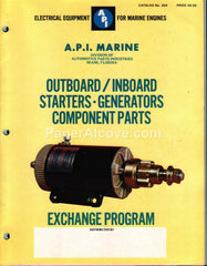 A.P.I. Marine Engine Components 1976 vintage boating catalog No. 204