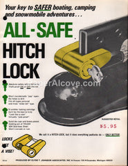 All-Safe Hitch Lock 1976 vintage brochure Escanaba MI