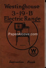 Westinghouse 3-19-B Electric Range 1918 Instruction Book Manual antique kitchen