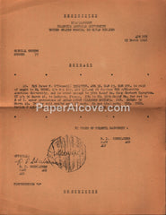 Biarritz American University United States Forces European Theater Restricted Orders 1946 military document Colonel Samuel L. McCroskey