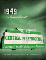 General Fireproofing Metal Business Furniture 1949 Annual Report Youngstown