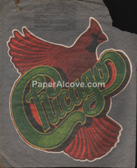 Chicago 1970s-1980s vintage unused iron-on t-shirt pattern decal cardinal red bird