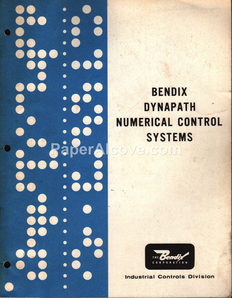 Bendix Dynapath Numerical Control Systems 1970s Brochure industrial Detroit