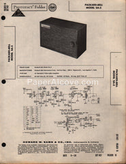 Packard-Bell SA-5 Audio Tube Amplifier 1959 PhotoFact Folder Repair Service Guide Schematics Howard W. Sams