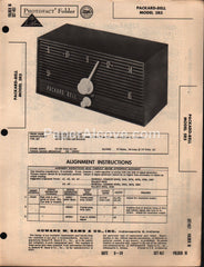 Packard-Bell 5R5 Audio AM Tube Receiver 1959 PhotoFact Folder Repair Service Guide Schematics Howard W. Sams