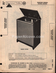 Truetone DC5903 DC5905 Tube Radio Stereo Amplifier Record Changer 1959 PhotoFact Folder Repair Service Guide Schematics Howard W. Sams