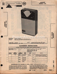 Linmark T-62 AM Transistor Radio Receiver 1959 PhotoFact Folder Repair Service Guide Schematics Howard W. Sams