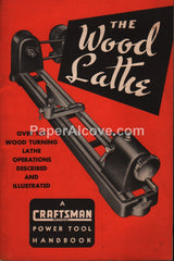 Craftsman Wood Lathe Power Tool Handbook 1950 Manual