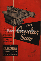 Craftsman Circular Saw Power Tool Handbook 1949 Manual