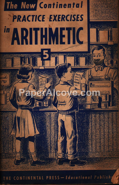 Continental Arithmetic Practice Exercises 5 general store 1954 book