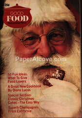 Good Food Magazine December 1973 Santa Claus Christmas cover