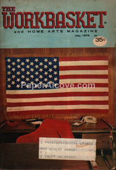 Workbasket Magazine July 1974 Patriotic American Flag cover