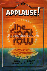 Tony Bennett Peggy Lee 1981 Applause! The Front Row Program Cleveland Ohio