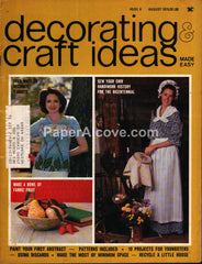 Decorating & Craft Ideas Made Easy August 1975 magazine