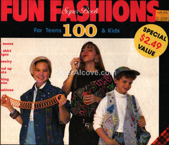 Fun Fashions Super Book Teens Kids Patterns 1990 neon denim 1980s