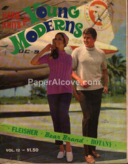 Hand Knits for Young Moderns Patterns 1969 Fleisher Bear Brand Botany