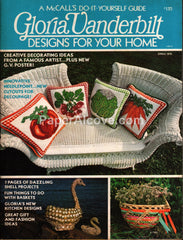 Gloria Vanderbilt Designs for Your Home Spring 1976 needlepoint patterns