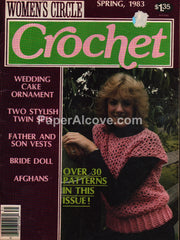 Women's Circle Crochet Spring 1983 magazine patterns afghans vests dolls ornaments