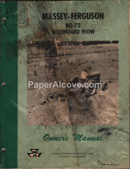 Massey-Ferguson No. 72 Moldboard Plow 1958 Owner's Manual