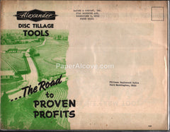 Alexander Disc Tillage Tools 1953 farm brochure