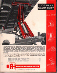 AEC 2200 Series Dumpmaster Wagon Hoist 1950s brochure farm equipment