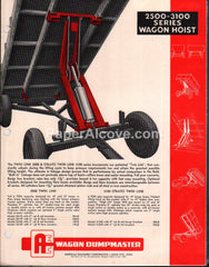 AEC 2500-3100 Series Dumpmaster Wagon Hoist 1950s brochure farm equipment