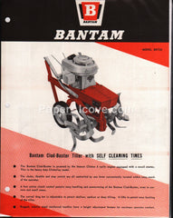Bantam Model BRT23 Clod-Buster Tiller 1960 brochure farm implement