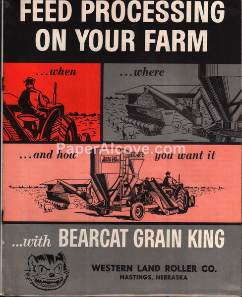 Bearcat Grain King Grinder-Mixer Roller Mill 1950s brochure farm equipment