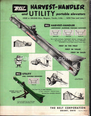 Belt Harvest-Handler Utility Portable Elevator 1960s brochure farm equipment
