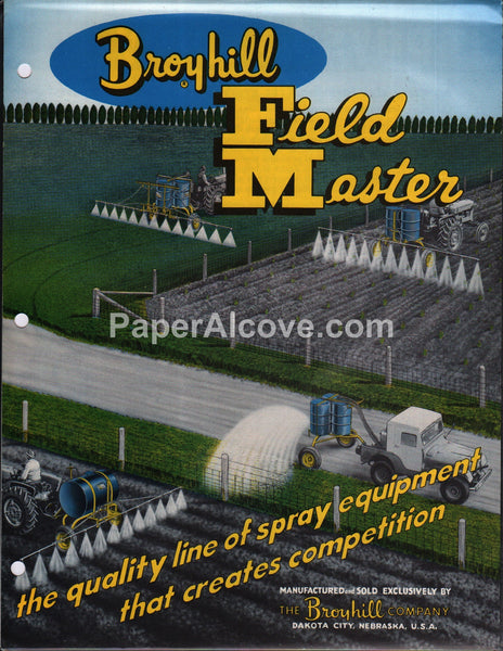 Broyhill Field Master Sprayers 1960 brochure farm equipment