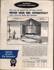 Butler Automatic Bin Unloader 1959 brochure farm equipment