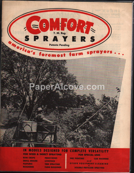 Comfort America's Foremost Farm Sprayers 1950s brochure equipment