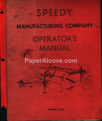 Speedy Shredder Operator's Manual 1960s farm equipment