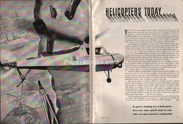 Helicopters Today Helicopters Tomorrow 1945 article
