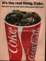 Coca-Cola Coke cup It's the real thing 1972 vintage print ad